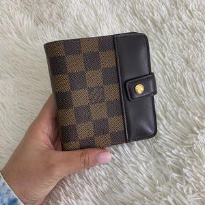 Louis Vuitton Damier Ebene Zippy Compact Wallet